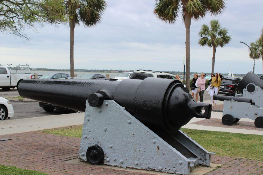 Un canon de la guerre de Sécession (Charleston)