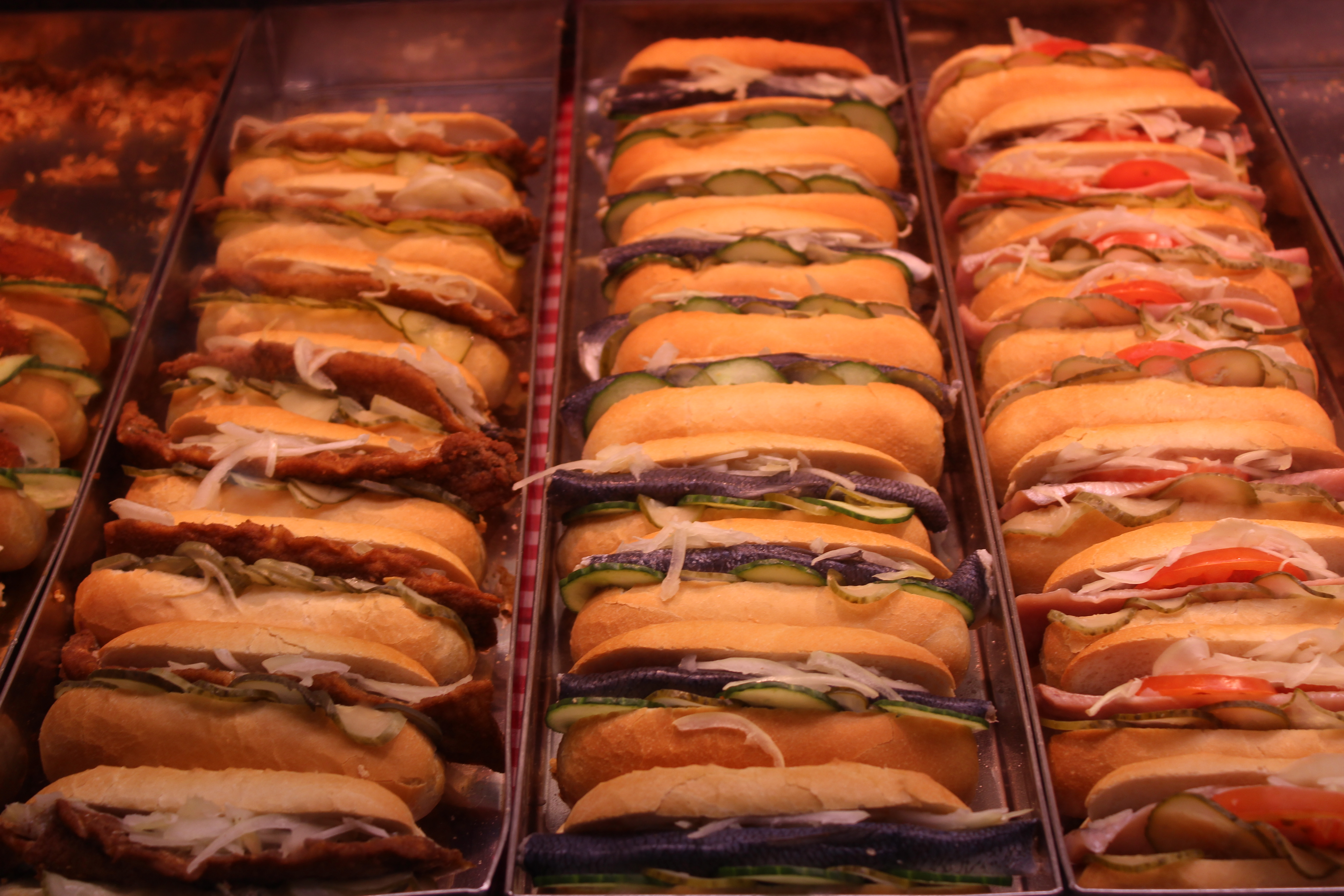 Sandwichs au poisson à Fischmarkt